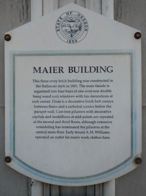 Maier Building Marker image. Click for full size.