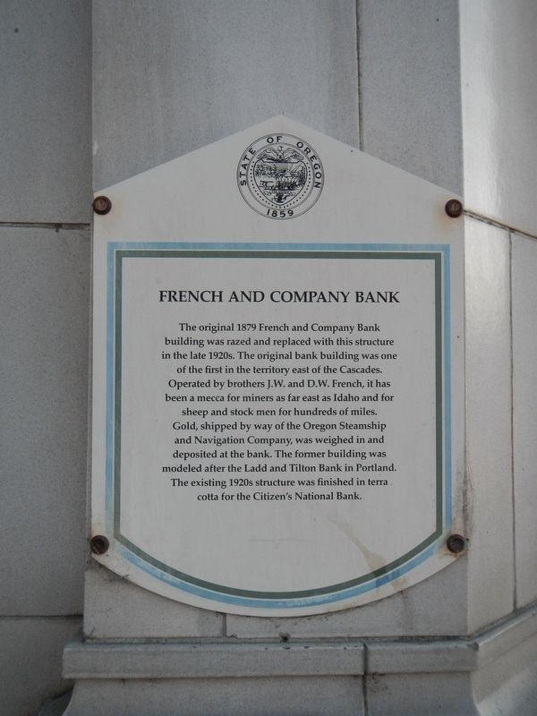 French and Company Bank Marker image. Click for full size.