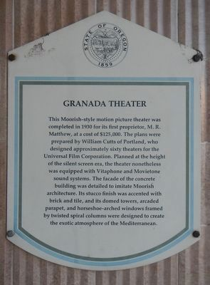 Granada Theater Marker image. Click for full size.