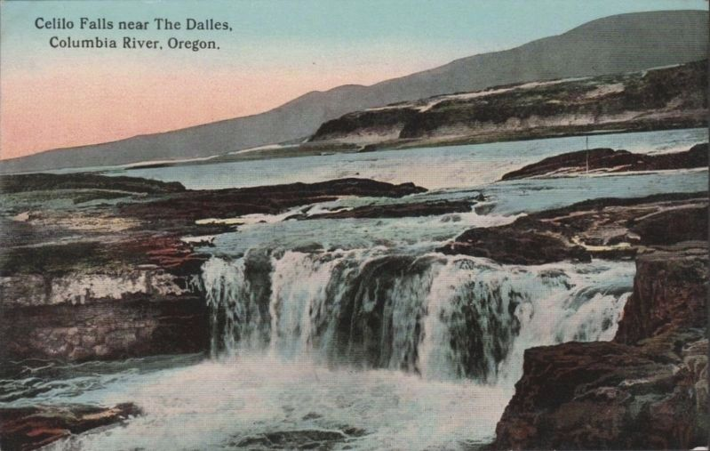 <i>Celilo Falls near The Dalles, Columbia River, Oregon</i> image. Click for full size.