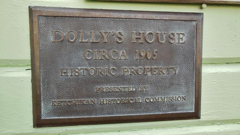 Dolly's House Historical Plaque image. Click for full size.