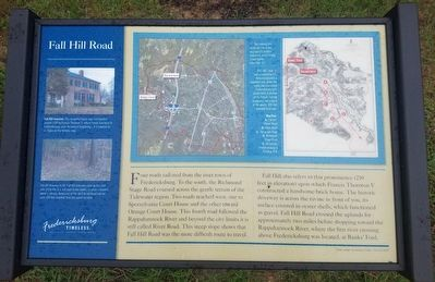 Fall Hill Road Marker image. Click for full size.