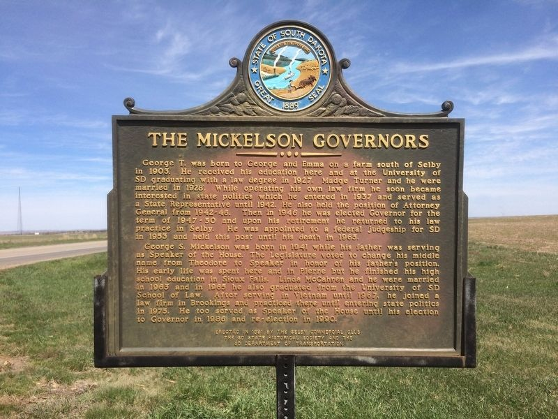 The Mickelson Governors Marker image. Click for full size.