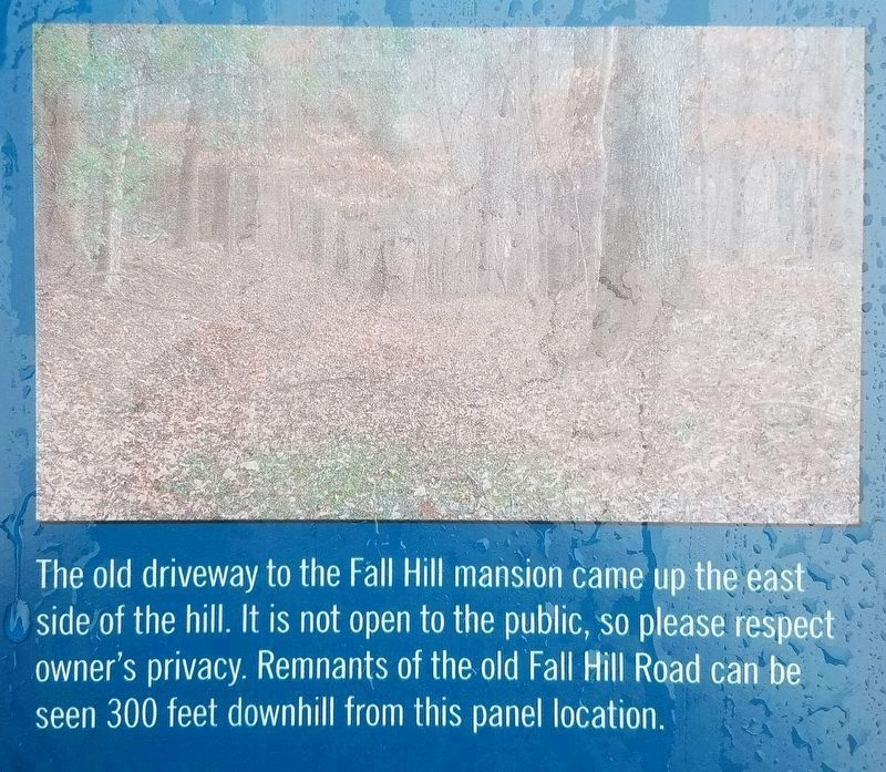 Closeup picture from the Fall Hill Road Marker image. Click for full size.