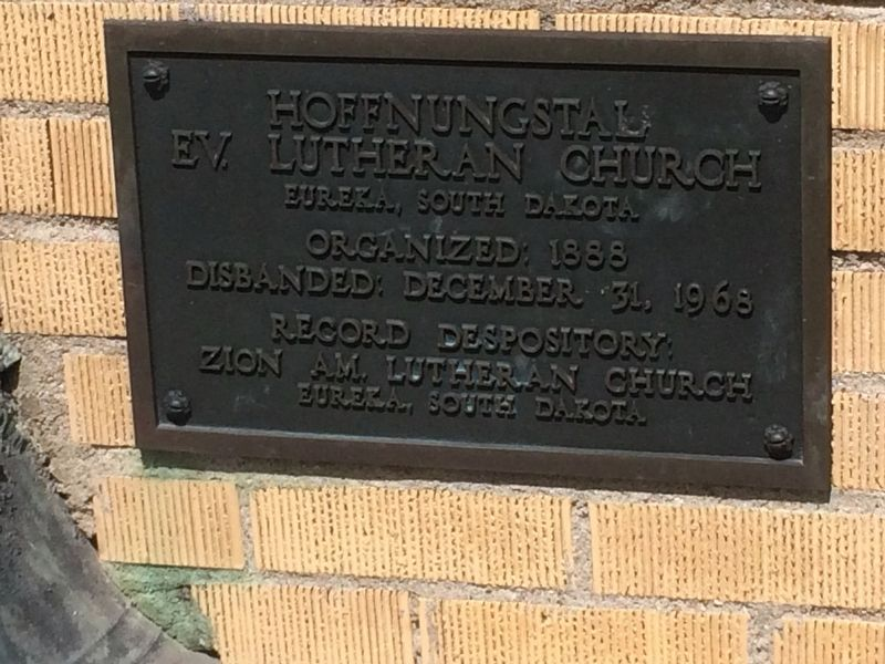 Hoffnungstal EV. Lutheran Church Marker image. Click for full size.