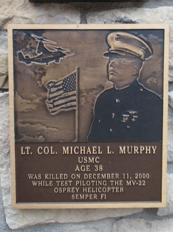 Lt. Col. Michael L. Murphy Marker image. Click for full size.