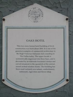 Oaks Hotel Marker image. Click for full size.