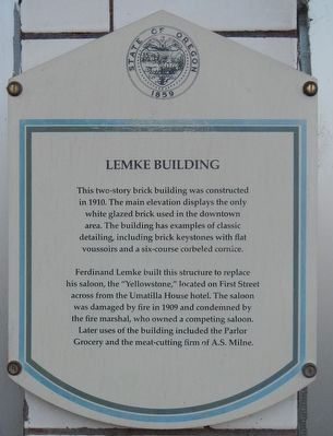 Lemke Building Marker image. Click for full size.