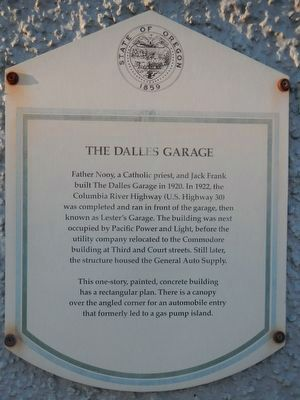 The Dalles Garage Marker image. Click for full size.