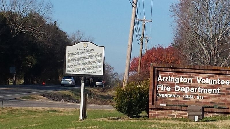 Arrington Marker image, Touch for more information