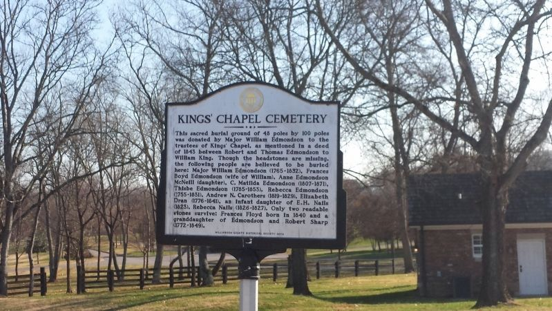 Kings' Chapel Cemetery Marker image. Click for full size.
