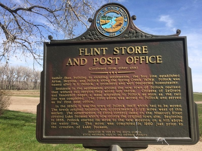 Flint Store and Post Office Marker image. Click for full size.