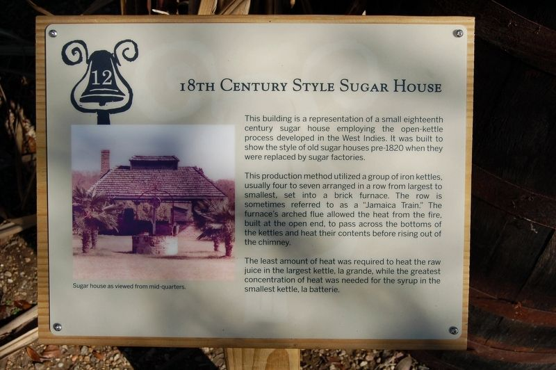 18th Century Style Sugar House Marker image. Click for full size.