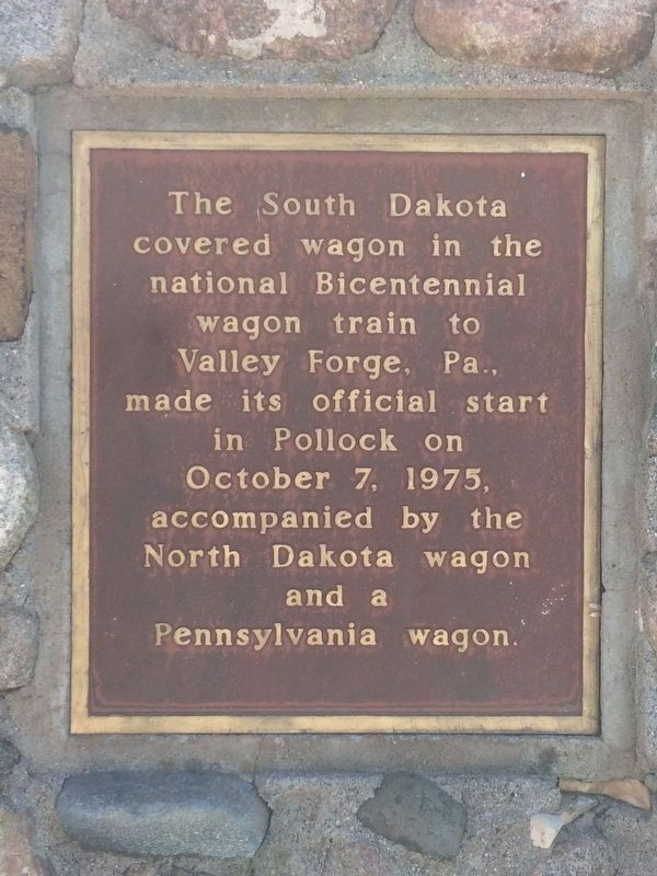 National Bicentennial Wagon Train Marker image. Click for full size.