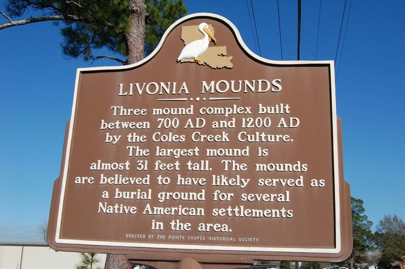 Livonia Mounds Marker image. Click for full size.