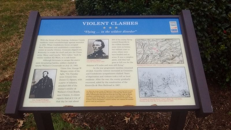 Violent Clashes Marker image. Click for full size.