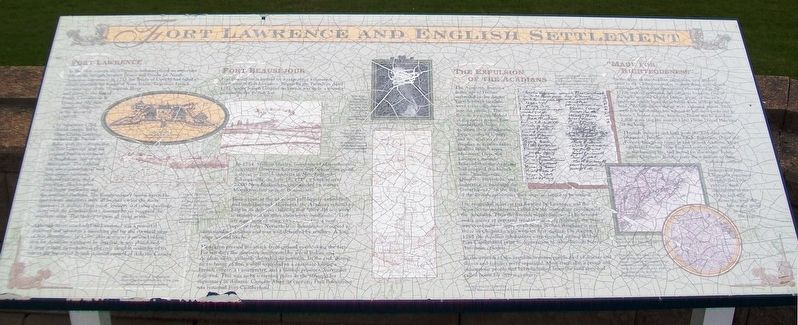 Fort Lawrence and English Settlement Marker image. Click for full size.