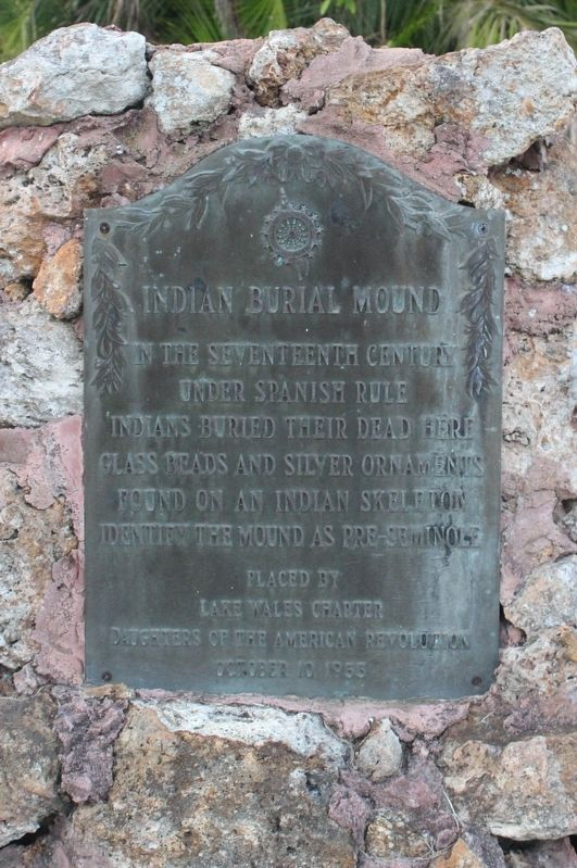 Indian Burial Mound Marker image. Click for full size.