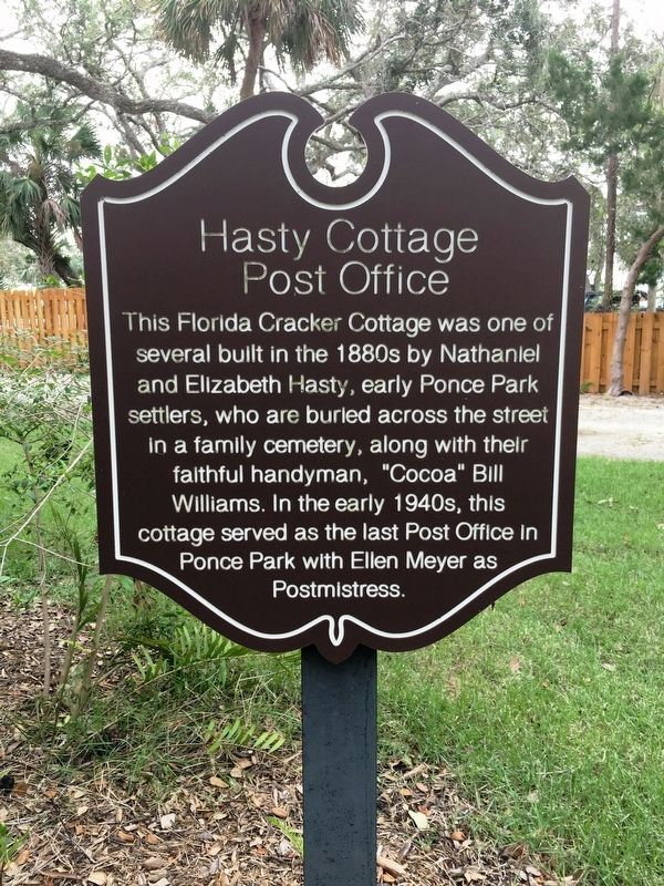 Hasty Cottage Post Office Marker image. Click for full size.