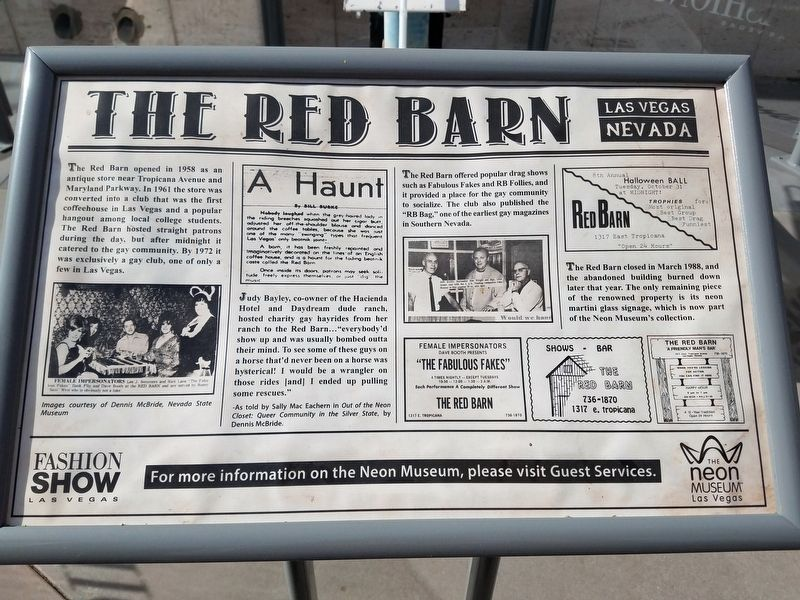The Red Barn Marker image. Click for full size.