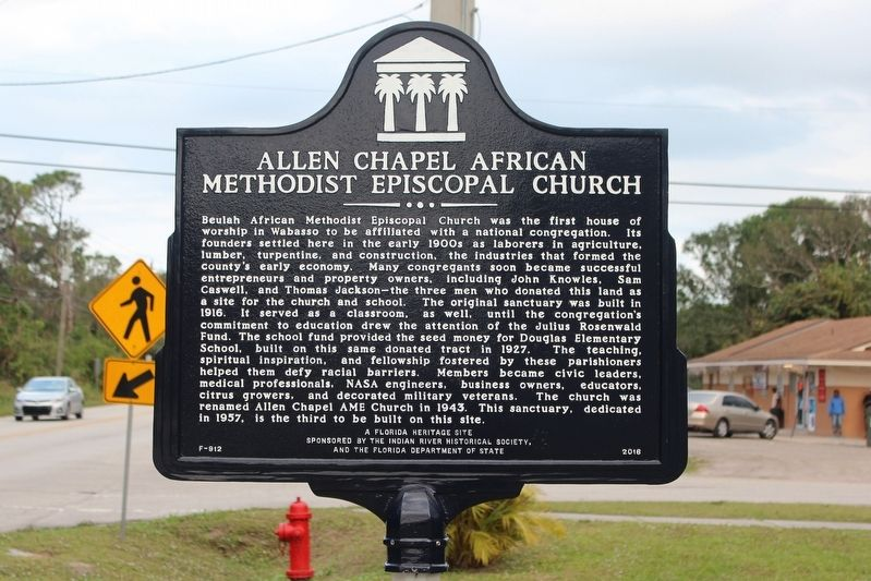 Allen Chapel African Methodist Episcopal Church Marker image. Click for full size.