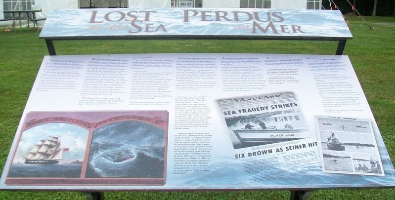 Lost at Sea / Perdus en Mer Marker image. Click for full size.