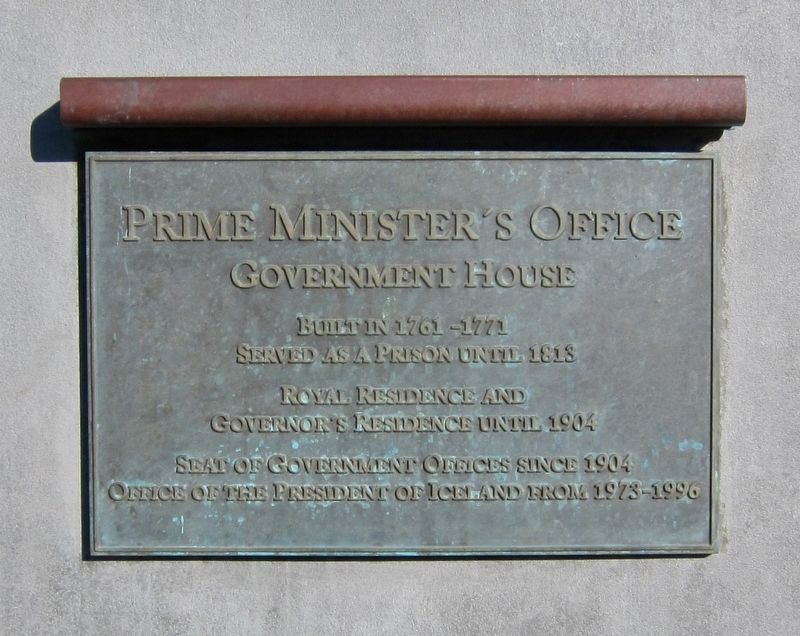 Prime Minister's Office Marker - English image. Click for full size.