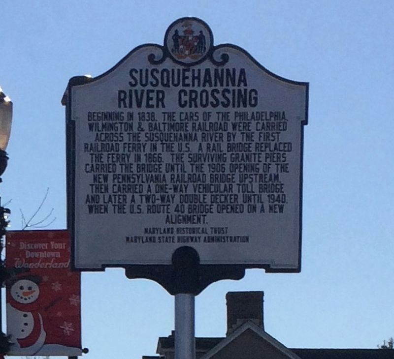 Susquehanna River Crossing Marker image. Click for full size.