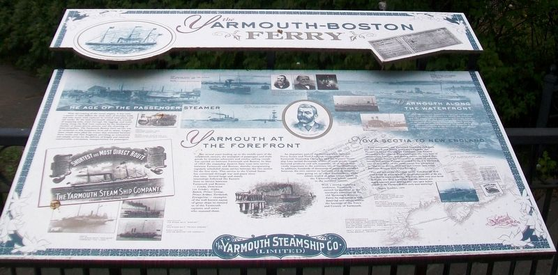 the <i>Y</i>armouth-Boston Ferry Marker image. Click for full size.