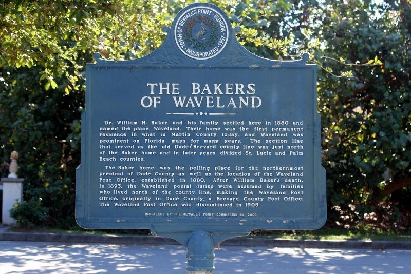 The Bakers of Waveland Marker image. Click for full size.