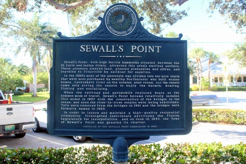 Sewall's Point Marker image. Click for full size.