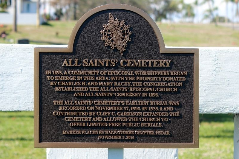 All Saints' Cemetery Marker image. Click for full size.