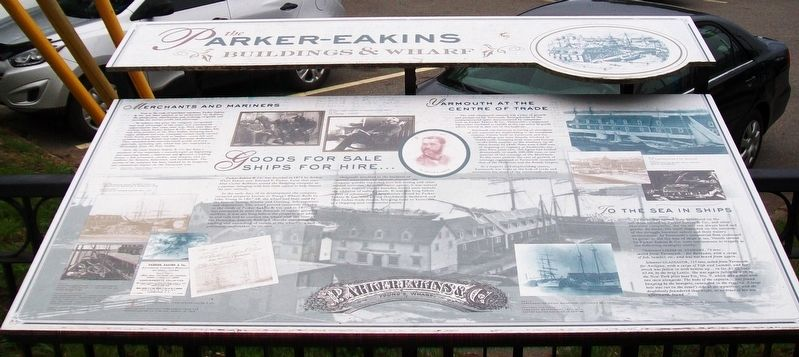 the Parker-Eakins Buildings & Wharf Marker image. Click for full size.