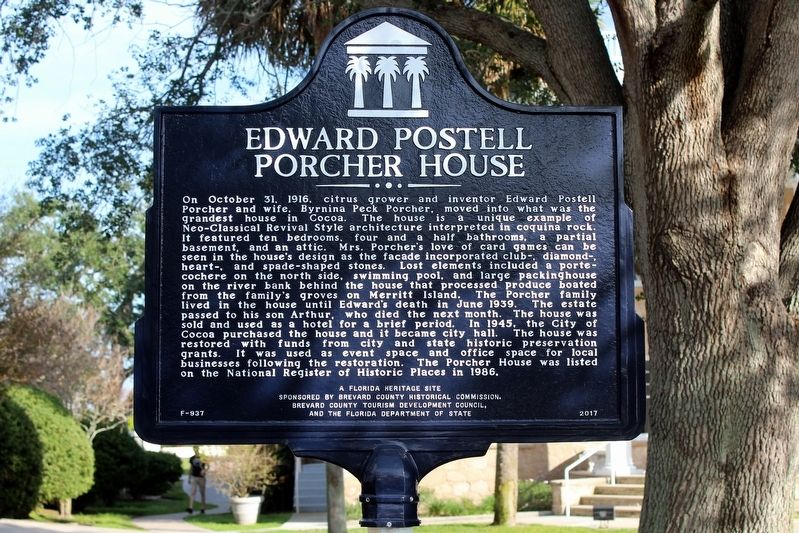 Edward Postell Porcher House Marker image. Click for full size.