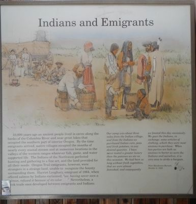 Indians and Emigrants panel image. Click for full size.