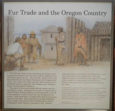 Fur Trade and the Oregon Country panel image. Click for full size.