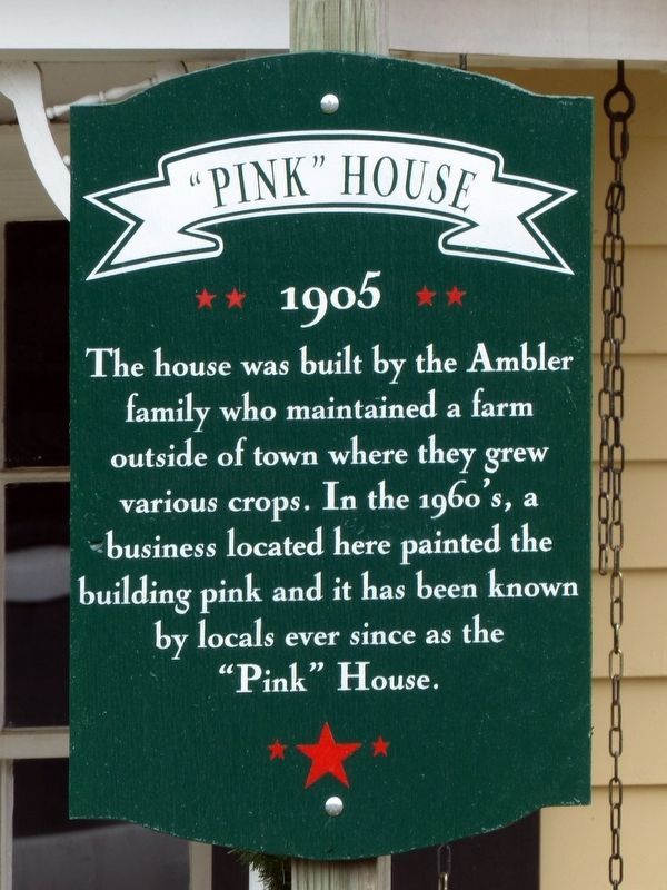 """Pink"" House Marker image. Click for full size."
