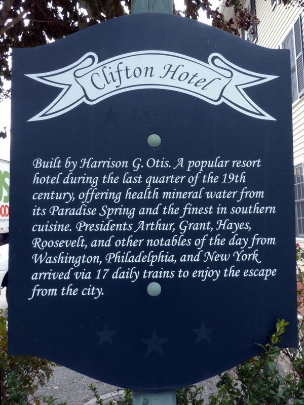 Clifton Hotel Marker image. Click for full size.