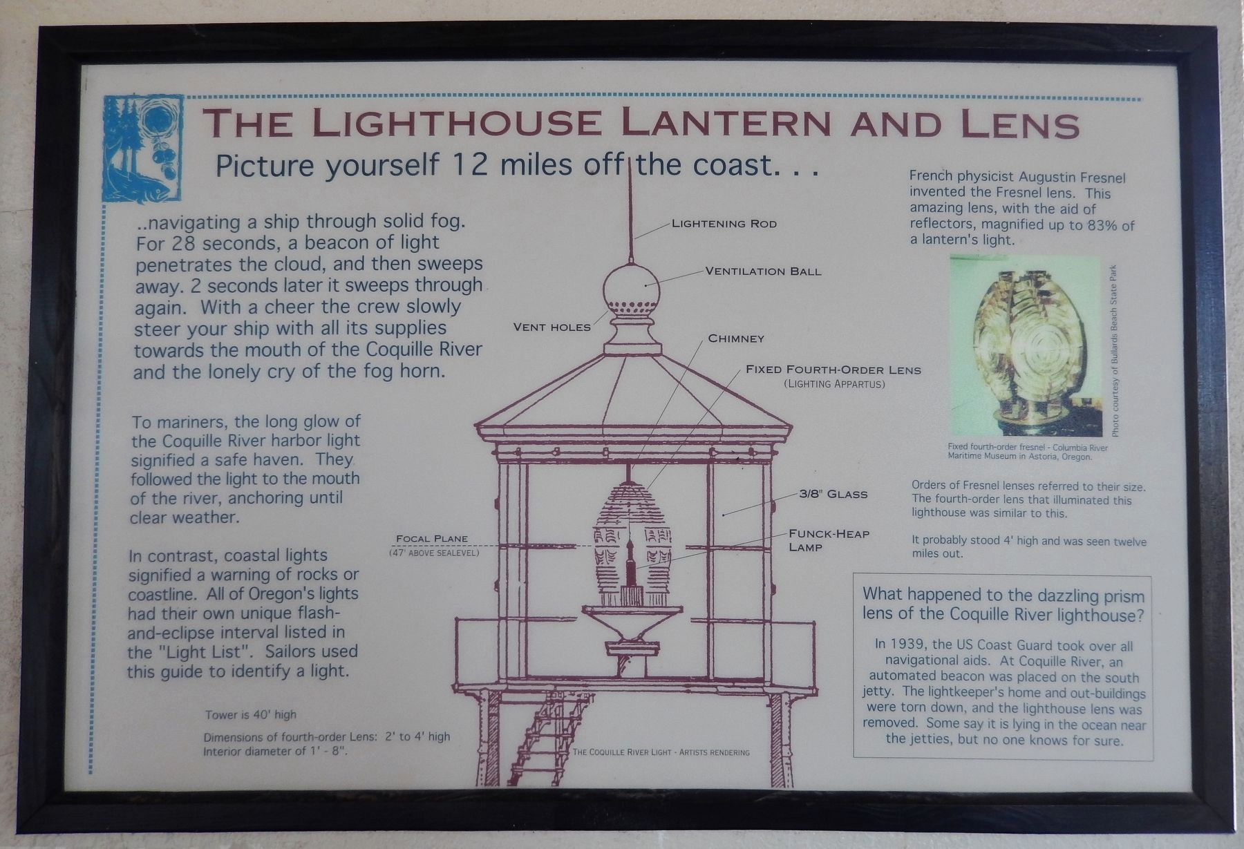 Lighthouse Lantern and Lens Exhibit image. Click for full size.