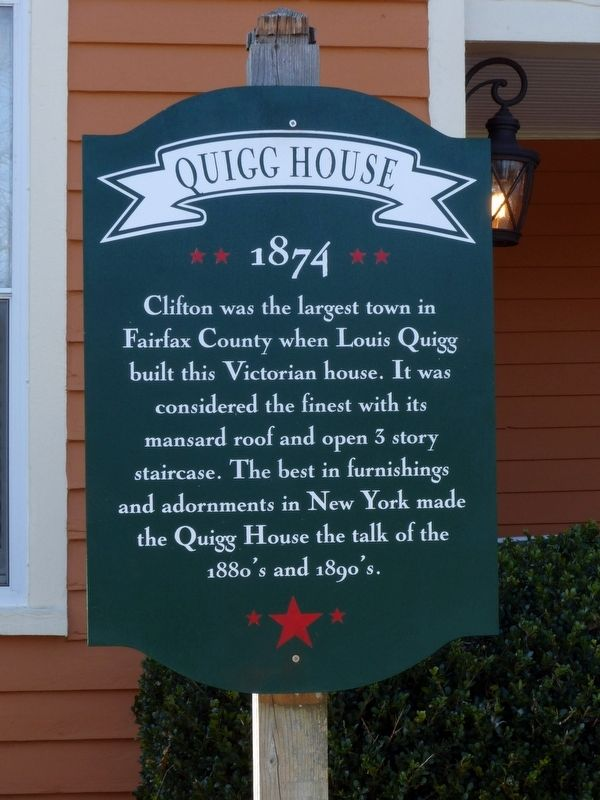 Quigg House Marker image. Click for full size.