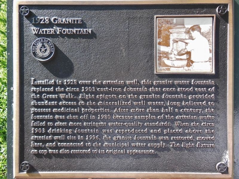 1928 Granite Water Fountain Marker image. Click for full size.