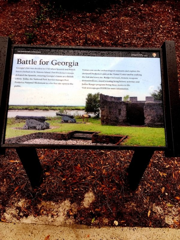 Battle for Georgia Marker image. Click for full size.