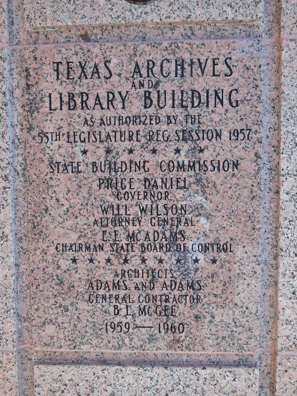 The Lorenzo de Zavala State Archives and Library Building Cornerstone image. Click for full size.