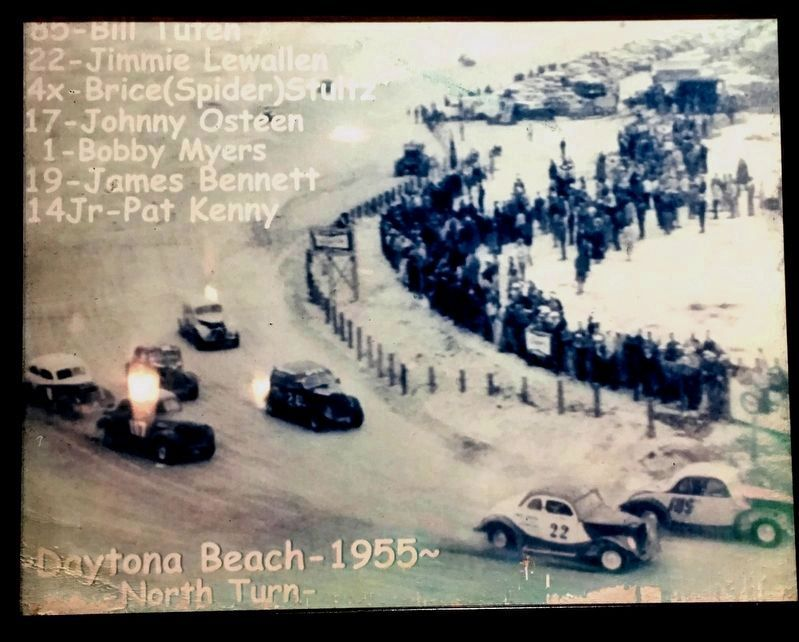 1955 Daytona Beach NASCAR Race at the North Turn image. Click for full size.