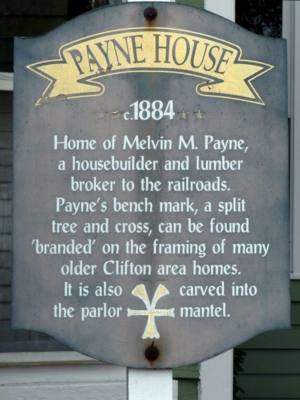 Payne House Marker image. Click for full size.