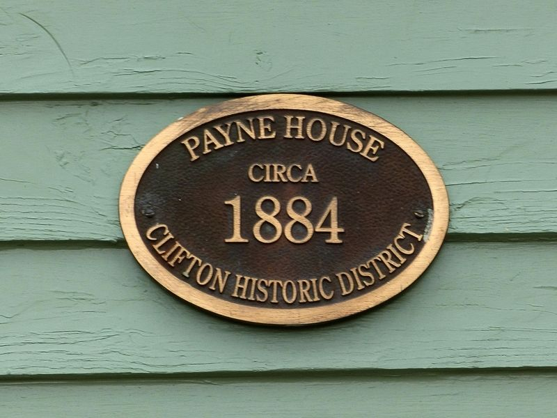 Payne House<br>Circa<br>1884<br>Clifton Historic District image. Click for full size.