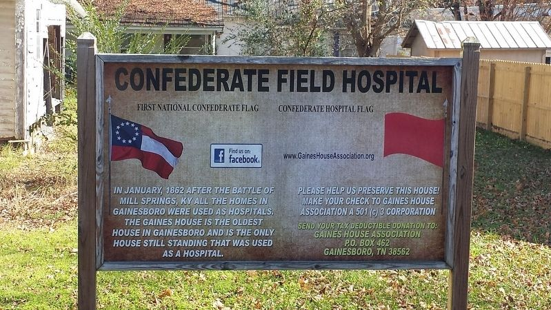 Confederate Field Hospital Marker image. Click for full size.