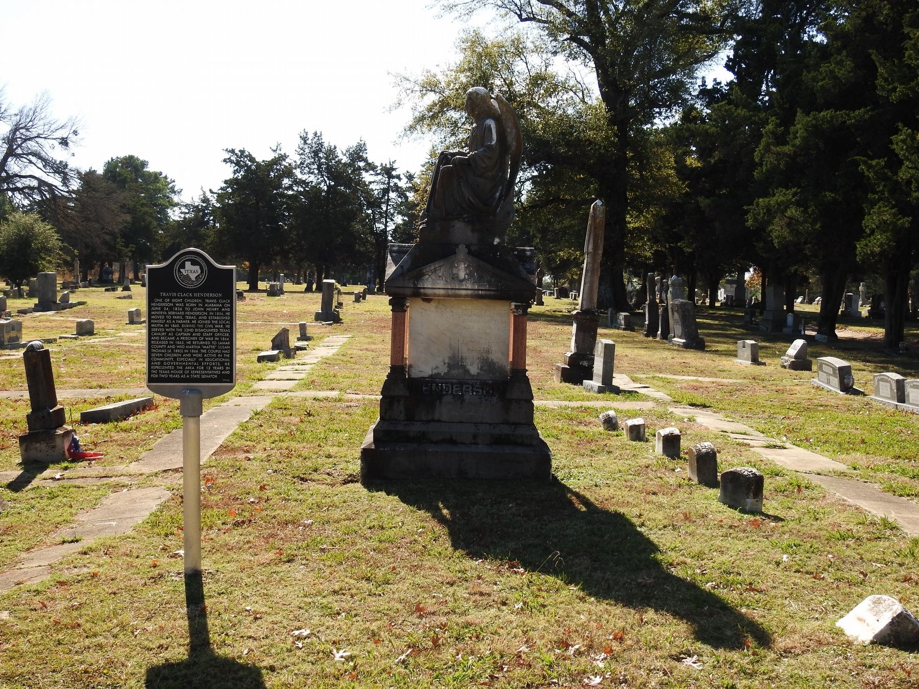 Travis Clack Henderson Grave and Marker image. Click for full size.