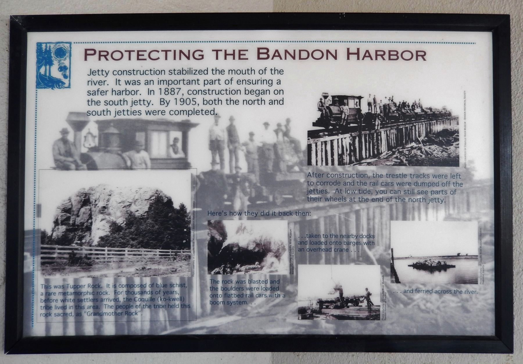 Protecting Bandon Harbor Exhibit image. Click for full size.