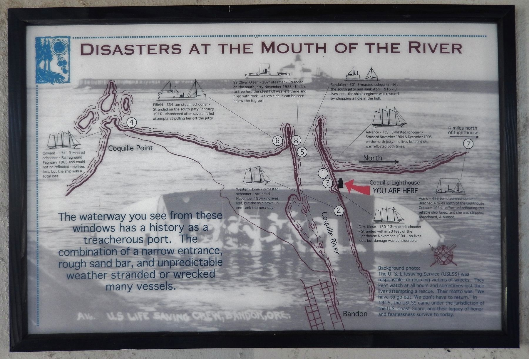 Disasters at the Mouth of the River Exhibit image. Click for full size.